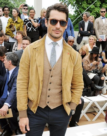 David Gandy at the Burberry Menswear Spring 2014 show