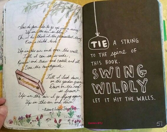 Let it swing wildly #carrieswtj #wreckthisjournal