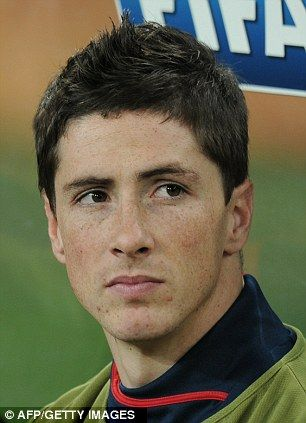 Torres watching Liverpool take on Atletico Madrid in 2010