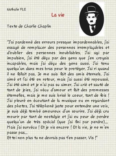 La vie. Charles Chaplin. Passé composé   Parle en français!   Scoop.it