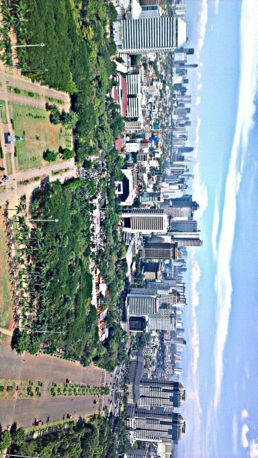 top view from tugu monas, Salak mt.