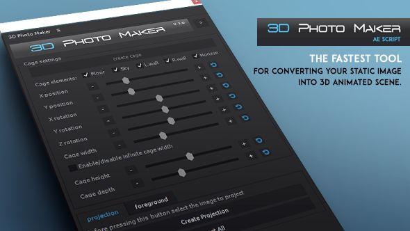 3D Photo Maker - The Script