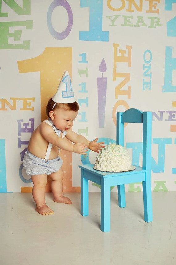 Baby Blue Cake Smash Outfit