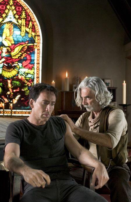 Nicolas Cage and Sam Elliott, Ghost Rider, 2007