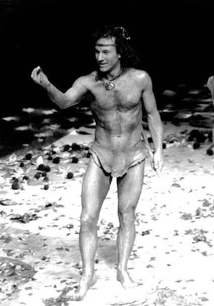 All these years, Captain Picard was holding out on us.   Young Patrick Stewart In Nothing But A Loincloth And Abs