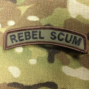 "You rebel scum""…famous words uttered by a Imperial Officer after foiling Han Solo and crew's escape exempt on the Death Star in the original Star Wars movie. Now you too can be labeled as such with your very own Rebel Scum patch exclusively from BCT. Velcro backed."