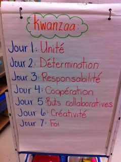 Primary French Immersion Resources - Grade 2 traditions and celebrations - Kwanzaa