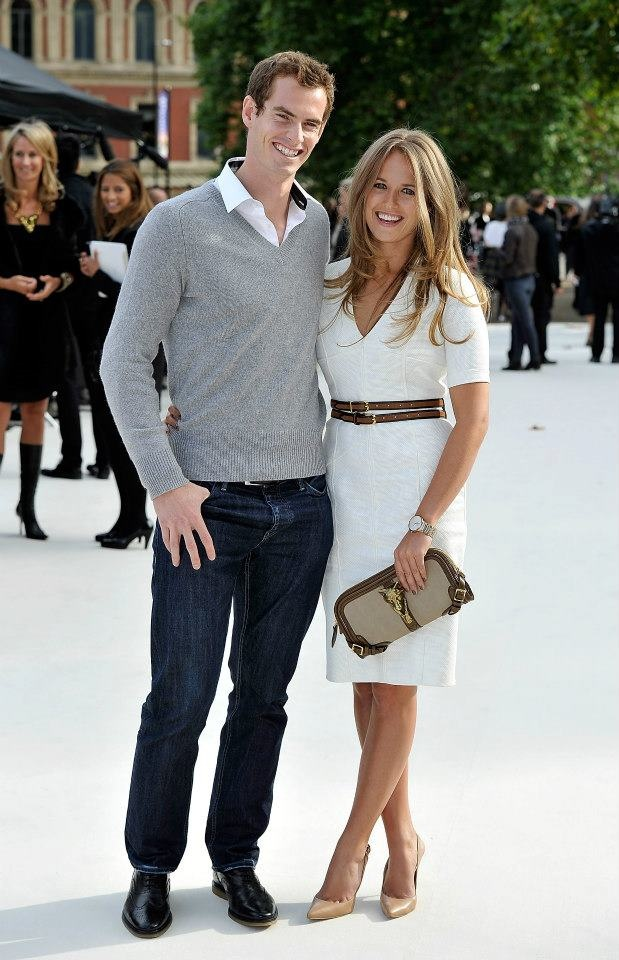 Andy Murray and his girlfriend Kim Sears head to the Burberry fashion show during London Fashion Week. Via Andy Murray Official Site