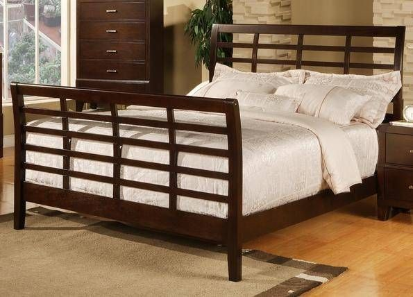 Crown Mark Serena B8150 Q Contemporary Sleigh Bedroom Set In