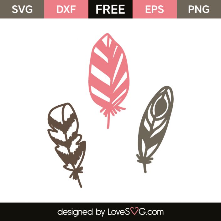 *** FREE SVG CUT FILE for Cricut, Silhouette and more *** Feathers