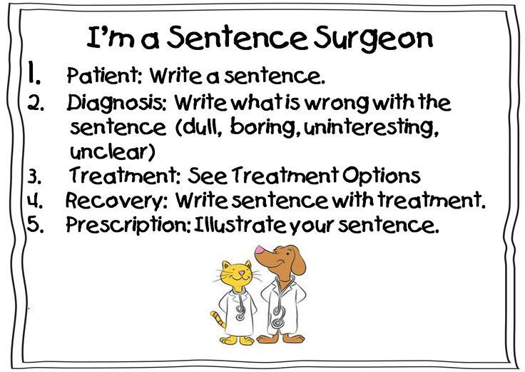 Writing: Sentences: I M, Sentences Surgeon, Surgeon Activities Teaching, Simple Sentences, Writing Sentences, Surgeon Direction, Grammar, Sentence Surgeon