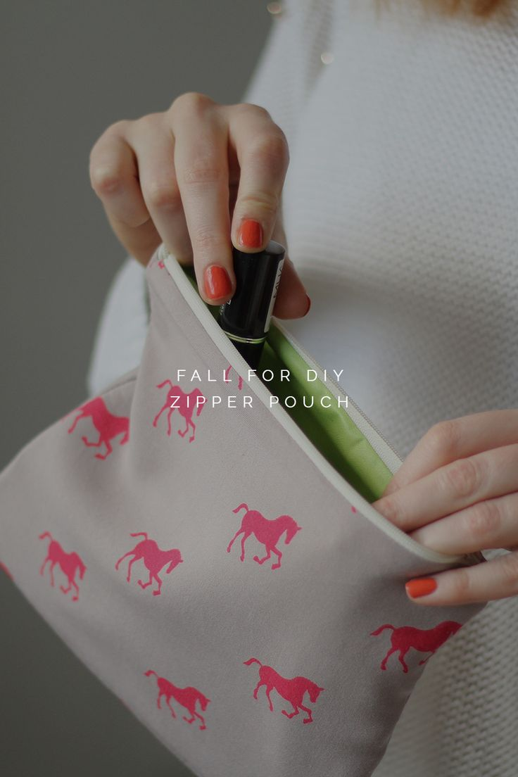 Fall For DIY Zipper Pouch Tutorial