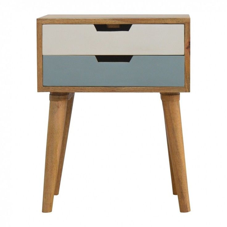 Scandinavian Nordic Style blue Bedside table with drawer 24 HR SALE #BELLAINTERIORS