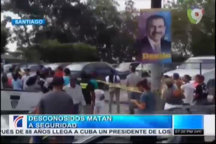 Desconocidos Matan Seguridad Y Dos Perros En Agencia De Carros En Santiago