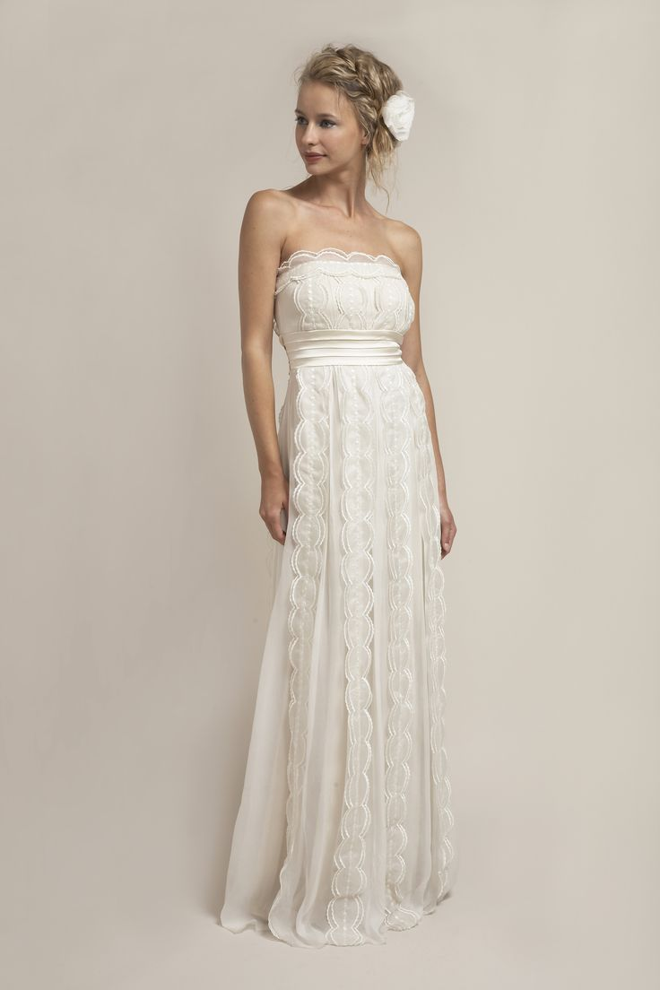 1083 best Bridal Gown--Empire images on Pinterest   Wedding frocks ...