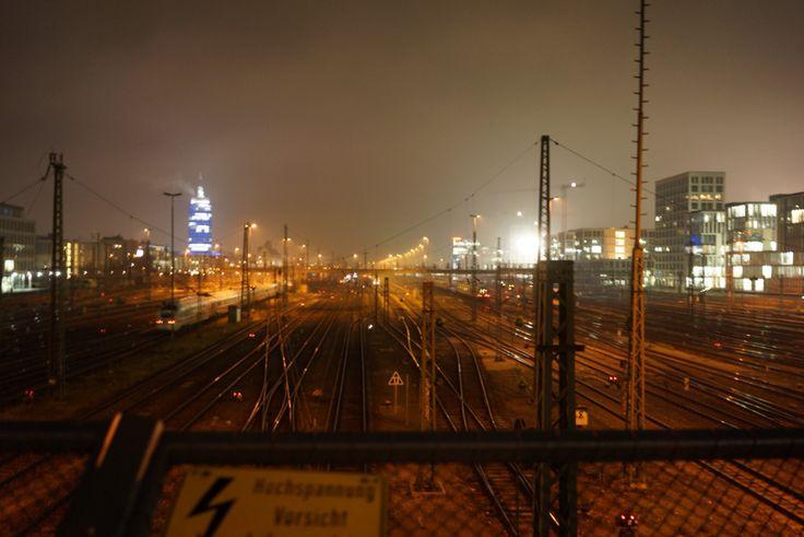 Munich Donnersbergerbrücke by Night 2014