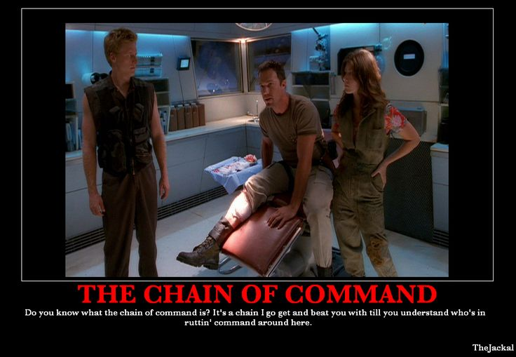 The chain of command. Jayne has it.