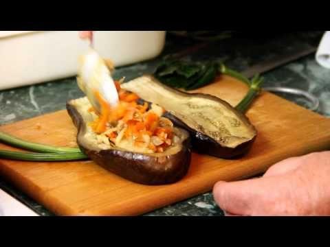 Вкусные фаршированные баклажаны - рецепт - YouTube