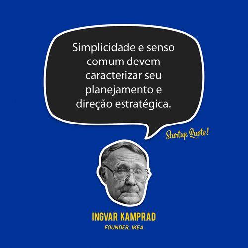 simplicidade e senso comum deve caracterizar planejamento e direção estratégica