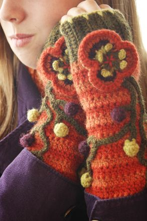 Free Crochet Fingerless Gloves Pattern.