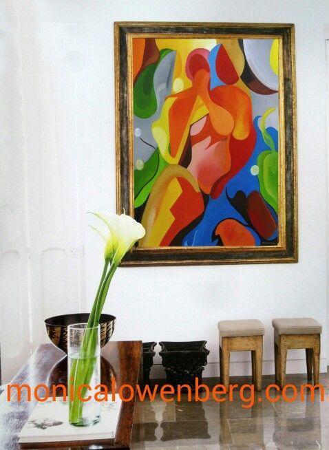 Olas de Pasión Arte con el Alma Oleo sobre tela registro