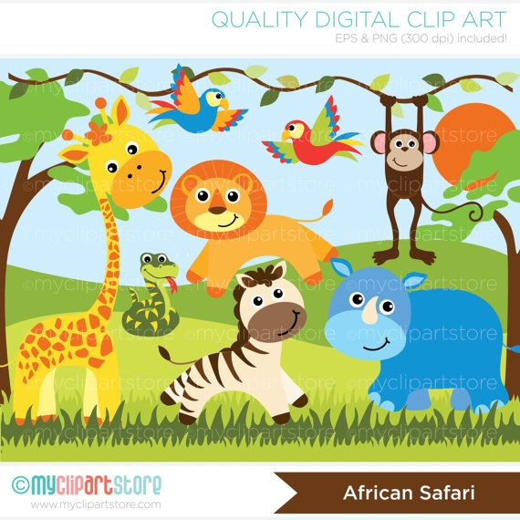 clipart jungle safari - photo #23