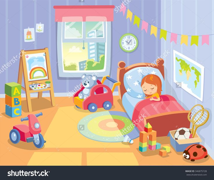 cozy children's bedroom interior with furniture and toys
