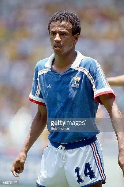 21st June 1986 1986 World Cup Quarter Final in Guadalajara France beat Brazil 43 on penalties Jean Tigana France who won 52 France international caps...