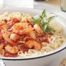 Shrimp & Tomato Linguine Toss Recipe | Taste of Home Recipes