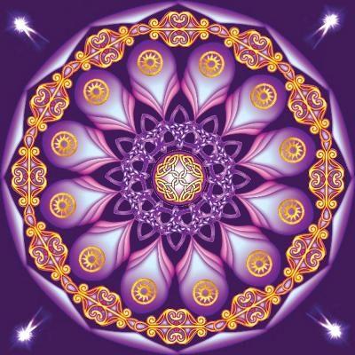 Mandala Mystica Dark Purple