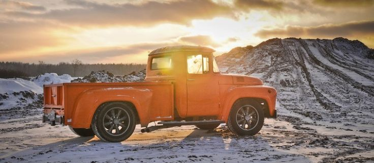 From USSR with love. Orange ZIL truck    Body: Cabin - ZIL131, Frame - Ford E250 shortened, lorry body - custom  Engine: Ford 4.2 V6 190 hp  Transmission: Automatic Ford 4R70W  Rear Axle:Ford E250  Front suspension: Ford E250  Brakes: ventilated disc Ford E250  0 to 100 kmh - 9.3 sec