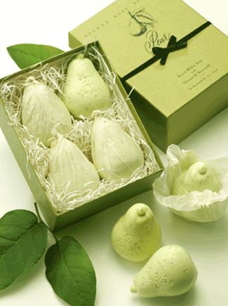 Pear Shaped Soap...... Love the elegant packaging!