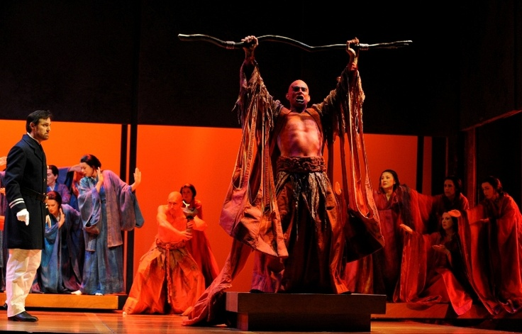 Australian bass Jud Arthur as The Bonze in Opera Australia's Madama Butterfly 2012 at Sydney Opera House