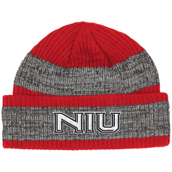 Northern Illinois Huskies adidas Sideline Player Watch Cuffed Knit Hat - Red/Heathered Gray - $21.99