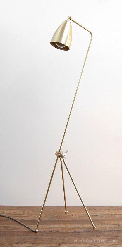 mid century modern solid brass grasshopper floor lamp adjustable reading lightu2026