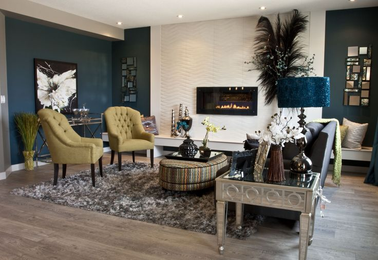 This beautiful fireplace is featured in our Blackfalds Showhome
