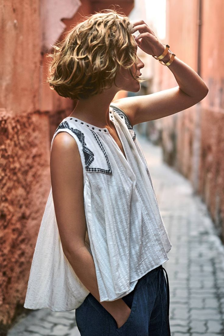 Split-Neck Swing Tank - anthropologie.com