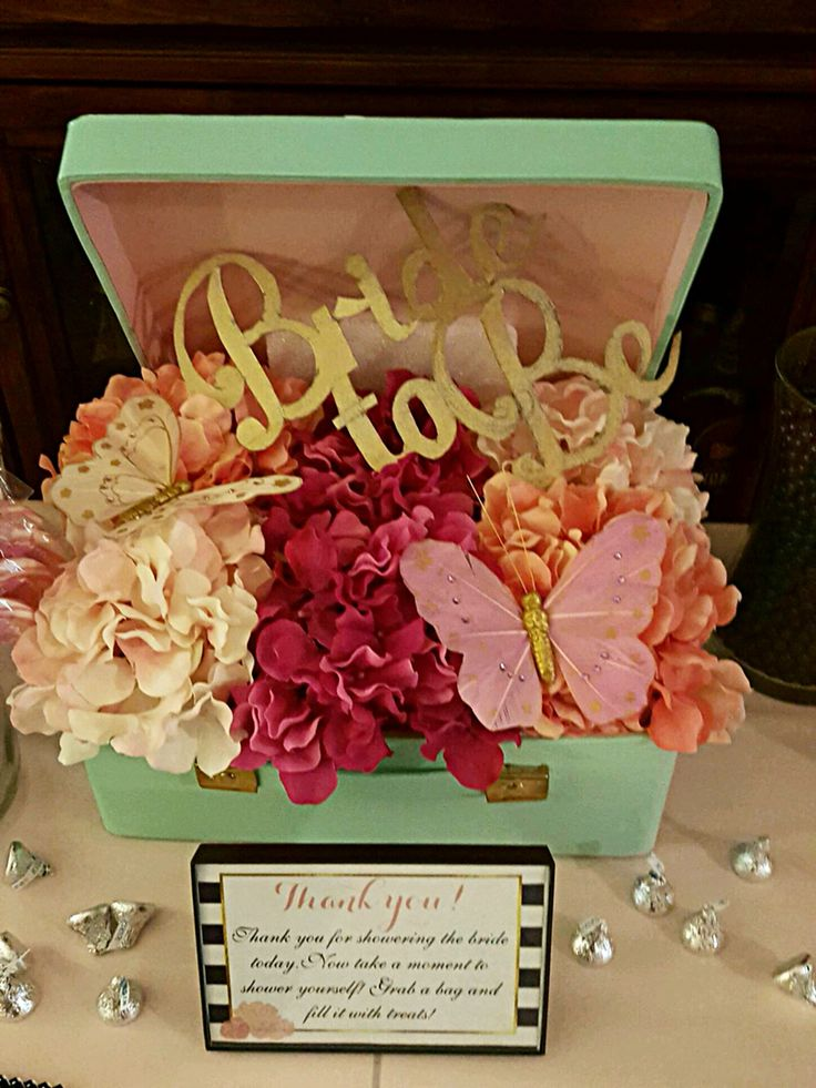 bridal shower centerpiece  a travel suitcase filled with