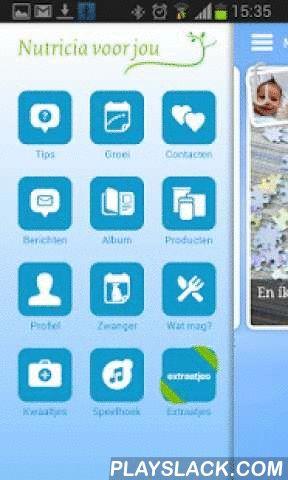 Nutricia Voor Jou  Android App - playslack.com ,  Nutricia voor jou geeft informatie en tips over je zwangerschap. Is je kindje geboren, dan vind je hier antwoord op vragen over voeding, groei en ontwikkeling. De functies in de app passen zich aan jou aan. Als je partner, de oppas of familie voor je kindje zorgen, kunnen zij ook de voedingen van je kindje vastleggen. Zo ben je altijd op de hoogte van voedingen en ontwikkelingen. Bijzondere momenten van je kindje leg je vast in de app om te…