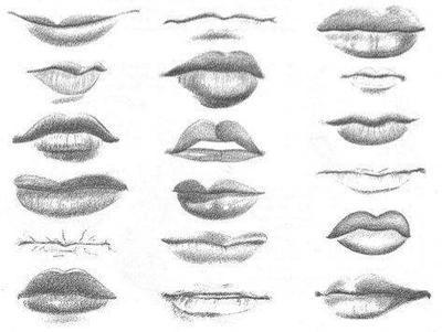 como aprender a dibujar labios a lapiz
