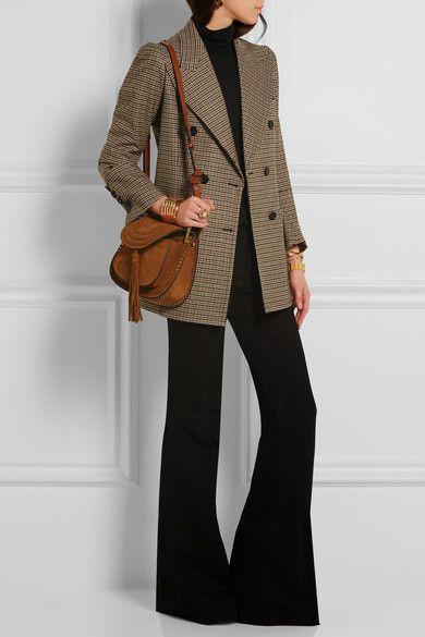 chloe hudson small whipstitched leather shoulder bag