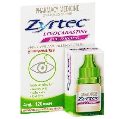 Zyrtec Hayfever & Allergy Eyedrops 4ml. Was $20.95 Now AUD$10.86.