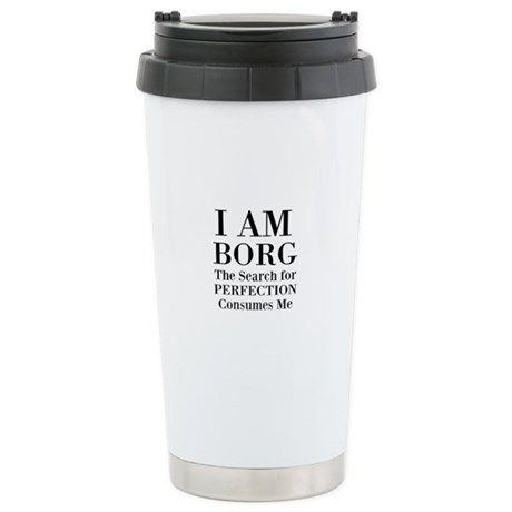 Borg Star Trek Meme Travel Mug on CafePress.com
