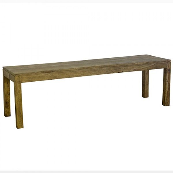 Wooden bench in natural indian rosewood timber