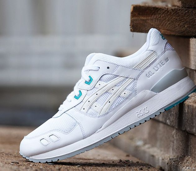 asics gel lyte iii white and teal