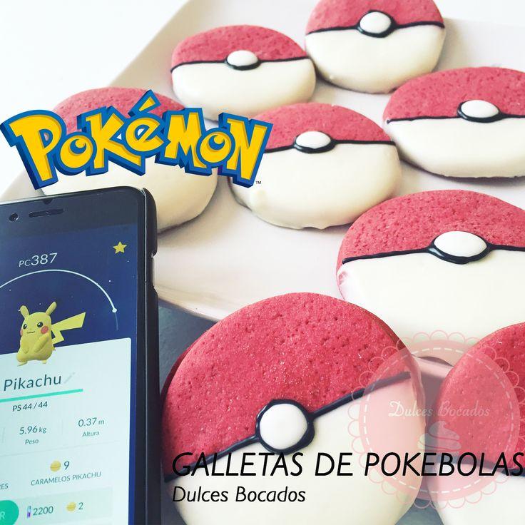 Pokémon! Estas galletas no solo son hermosas, son deliciosas.  BY Karen Anacona