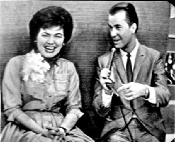 Patsy with Dick Clark on American Bandstand ~ 1962.