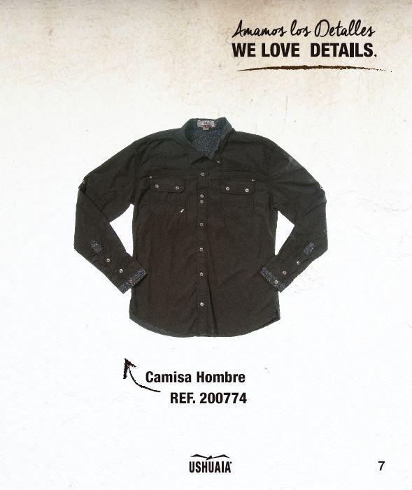 Camisa Hombre Ref: 200774 Talla: S-M-L-XL