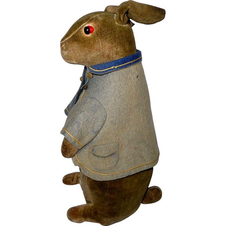 Steiff Peter Rabbit Velvet Toy c1910 - Steiff Peter Rabbit Velvet Toy c1910