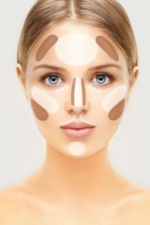 "If you're looking to instantly slim down your face, Mikesell suggests contouring with specific color palettes. ""Adding in shadows will create the illusion that there's a reason for the shadow to be there, even if your cheek is a bit rounder than you'd like,"" says Mikesell. Use a brown cream under your cheekbone, under the angle of your jaw, and on your temples. Blend with your fingers, then add regular foundation."